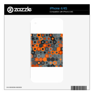 abstract image decal for iPhone 4