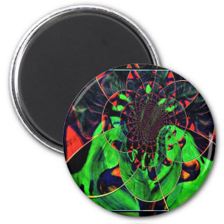 abstract image in gree fridge magnet