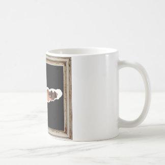 Abstract image of a woman's eyes. coffee mug