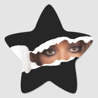 Abstract image of a woman's eyes. star sticker