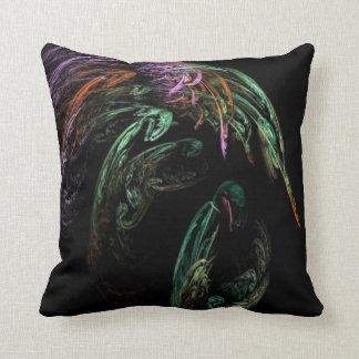 Abstract image of bird throw pillow