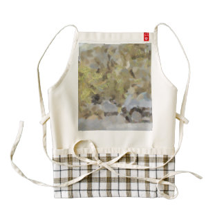 Abstract image of car passing through a dust storm zazzle HEART apron