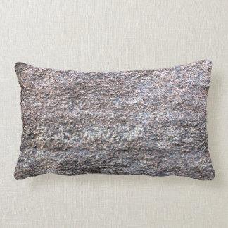 Abstract Image of grey beige asphalt Lumbar Pillow