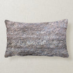 Abstract Image of grey beige asphalt Throw Pillows