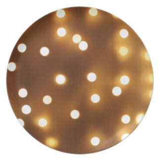 Abstract image - round, yellow and dim lights plate