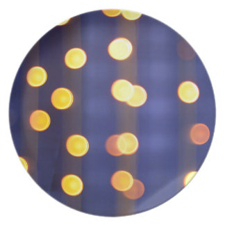 Abstract image - round, yellow and red lights melamine plate