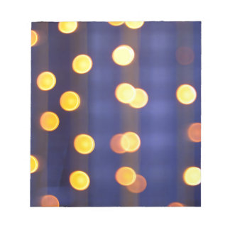 Abstract image - round, yellow and red lights notepad