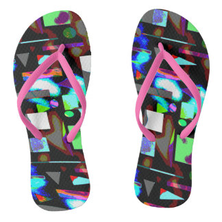 Abstract image vivid  colours flip flops