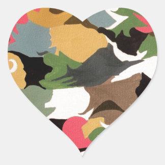 abstract imagenative abstract-art heart sticker