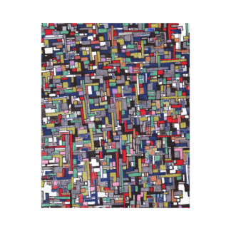 Abstract Images:  Cyber Pop Abstract Fractal Canvas Print
