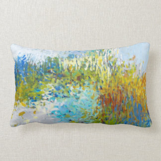 Abstract Impressionist Painting Long Pillow