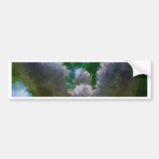 Abstract Impressionist stone angel garden Bumper Sticker