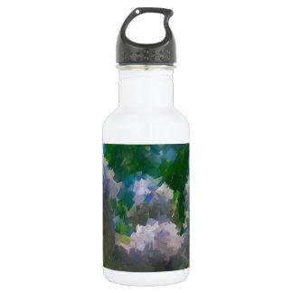 Abstract Impressionist stone angel garden 18oz Water Bottle