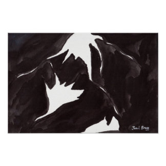 Abstract in Black and White Poster