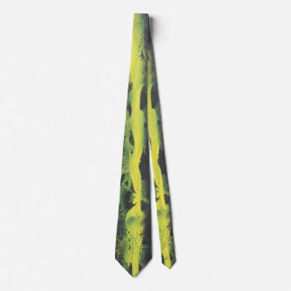 Abstract in Black and Yellow Tie