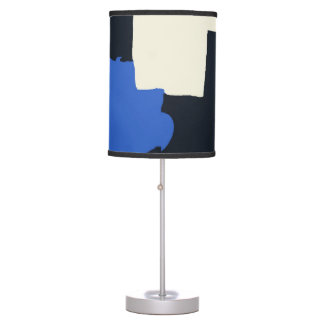 Abstract in Blue and Black Table Lamp