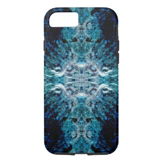 Abstract in Blue and Teal. Some soft edges. iPhone 7 Case