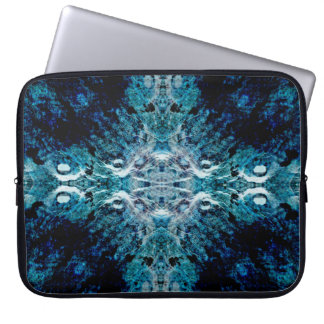 Abstract in Blue and Teal. Some soft edges. Laptop Computer Sleeves