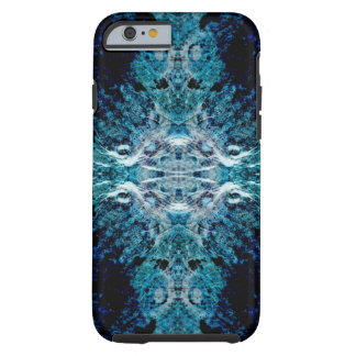 Abstract in Blue and Teal. Some soft edges. Tough iPhone 6 Case
