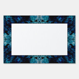 Abstract in Blue and Teal. Some soft edges. Yard Signs