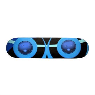 Abstract in blue ands and blacks. skateboards