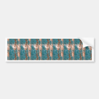 Abstract in Blue Car Bumper Sticker