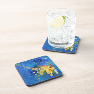 Abstract in Blue Coaster