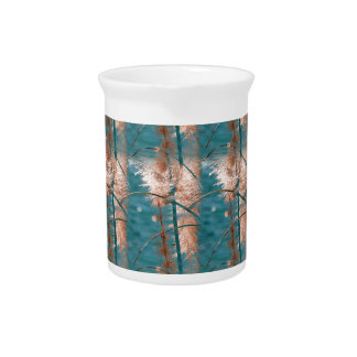 Abstract in Blue Drink Pitchers