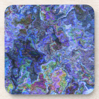 Abstract in Blue Indigo Beverage Coaster