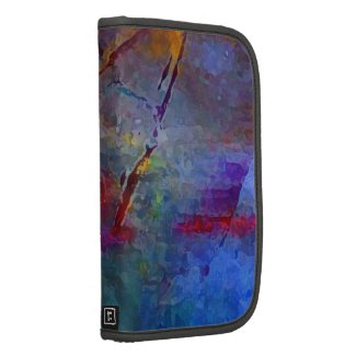 Abstract in Blue Personal and Business Planner rickshaw_folio