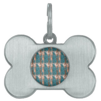 Abstract in Blue Pet ID Tag