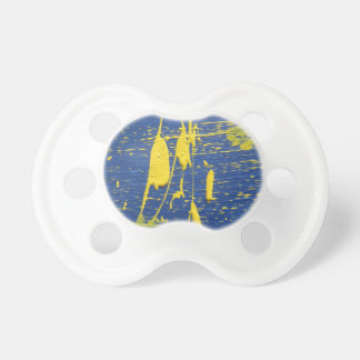 Abstract in Blue Yellow Baby Pacifier