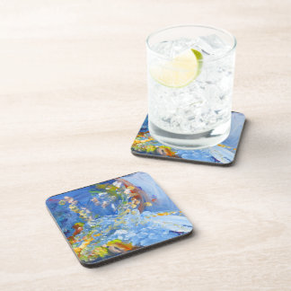 Abstract in Blues Coaster