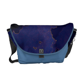 Abstract in Blues Messenger Bag