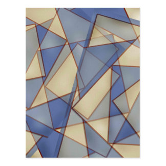 Abstract In Blues Postcard