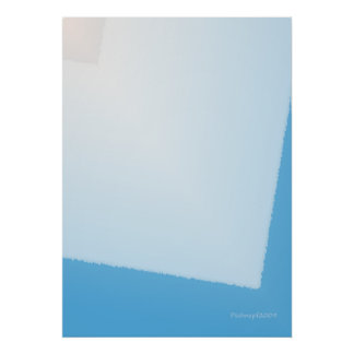 Abstract in Blues Posters