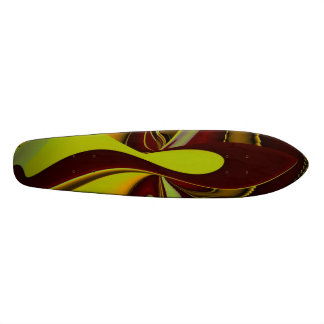 Abstract in bordo yellow black skateboard