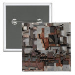 Abstract in Brown and Gray. Pattern. Button
