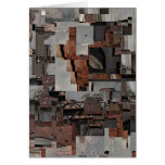 Abstract in Brown and Gray. Pattern. Stationery Note Card