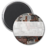 Abstract in Brown and Gray. Pattern. Fridge Magnets