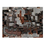 Abstract in Brown and Gray. Pattern. Postcard