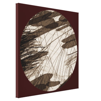Abstract in Brown Stretched Canvas Print