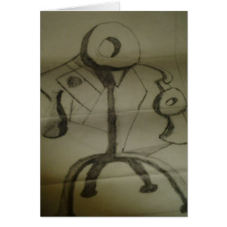 ABSTRACT IN CHARCOAL CARD