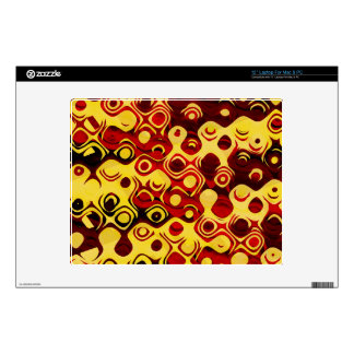 Abstract in Fiery Colors Laptop Decal