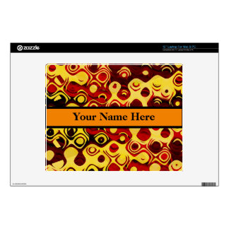"""Abstract in Fiery Colors 12"""" Laptop Decal"""