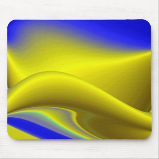 Abstract in gold-yellow blue mouse pad