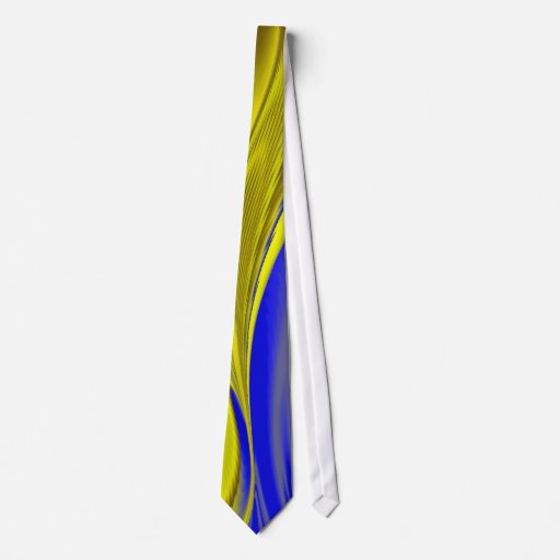 abstract in gold-yellow blue tie