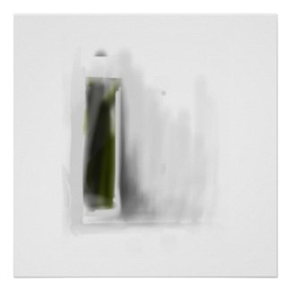 Abstract in Green Poster