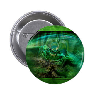 Abstract In Greens Pinback Button