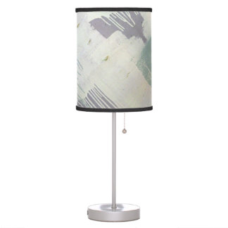 Abstract in Mint and Lavender Table Lamp